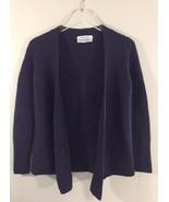 Ellen Tracy Women Overpiece Sweater Cardigan Purple Merino Wool Large - $27.69
