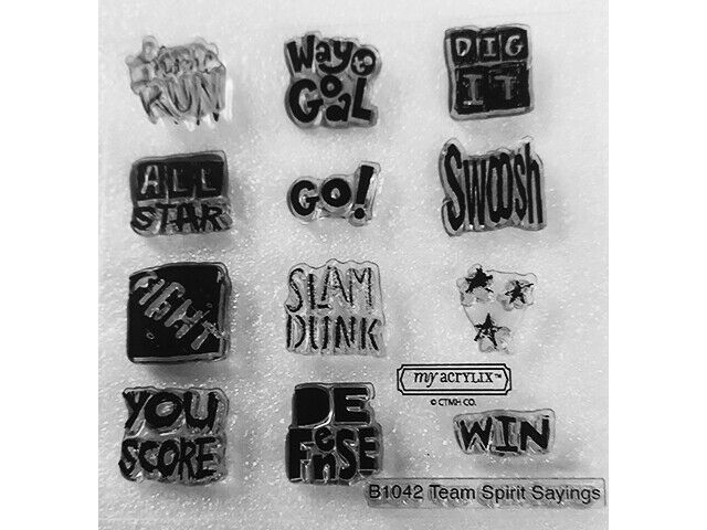 Close to My Heart Team Spirit Sayings Clear Acrylic Stamp Set #B1042