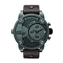 Diesel Little Daddy DZ7258 Gunmetal Brown Leather Men's Watch - $191.99 CAD