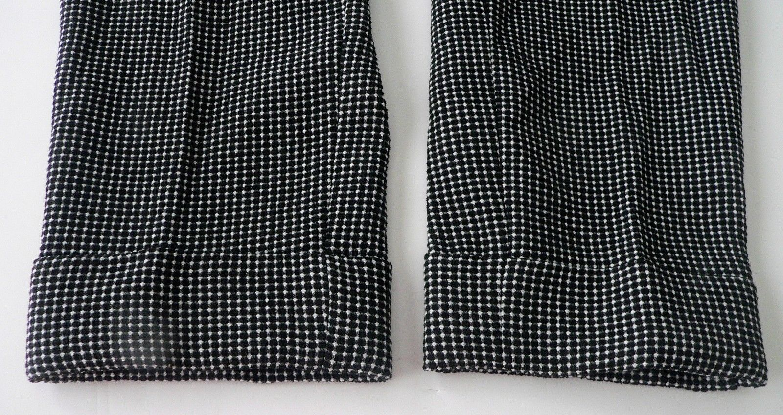 NWT ARMANI COLLEZIONI 52/16 pants trousers slacks black/white heavyweight career