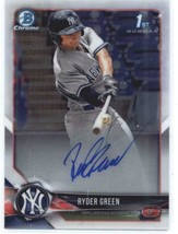 2018 Bowman Draft Chrome Autographs #CDA-RG Ryder Green Yankees RC AUTO - $27.00