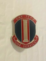 US Military Insignia Pin - One Team One Service - $10.00