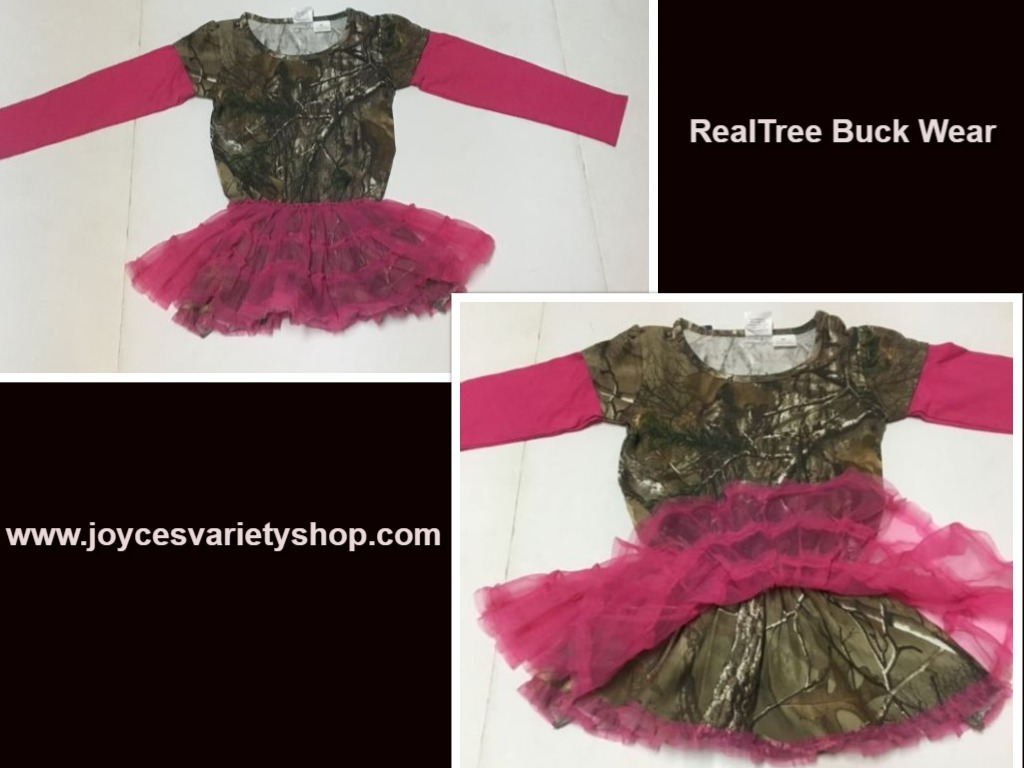 Primary image for Realtree Buck Wear Hot Pink Camouflage Toddler Dress Sz 2T, 3T, 4T