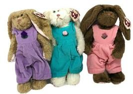 VTG Ty Beanie Babies Lot 3 Rabbits Bunnies 1993 IRIS IVY ROSE Corduroy J... - $37.99