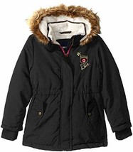 Limited Too Girls' Toddler Sueded Microfiber Heavy Anorak W/Sherpa, Blac... - $37.27