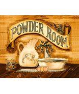 """Powder Room"" Folk Art Print Becca Barton Ready... - $4.75"