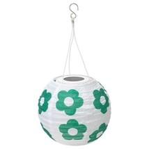 SOLVINDEN LED solar-powered pendant lamp, outdoor globe, flower patterne... - $29.69