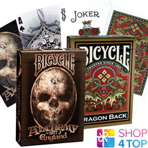 2 DECKS BICYCLE 1 GOLD DRAGON AND 1 ALCHEMY 1977 PLAYING CARDS MADE IN U... - $11.48