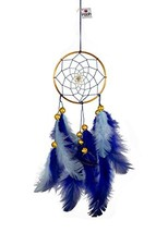 Rooh Dream Catcher ~ Blue Brass ~Handmade Hangings for Positivity Used a... - $13.26