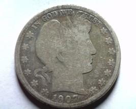 1907-D Barber Half Dollar Good G Attractive Toned Obverse Nice Original Coin - $27.00