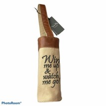 NEW Myra Wine Bag Wine Me Up & Watch Me Go Canvas & Leather Pouch - $24.74