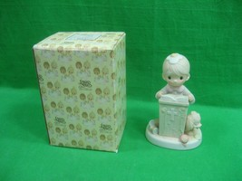 Precious Moments Figurine If God Be For Us Who Can Be Against Us ~ E9285 - 1982 - $9.89