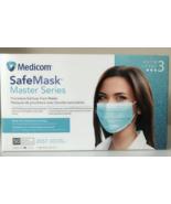 Medicom USA SafeMask Master Series ASTM Level 3 Ocean Surf Aqua Face Mas... - $19.55