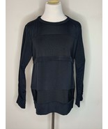 IRO Womens Silk Top Crewneck Pullover Long Sleeve Black Size 38 / 8 - $39.95