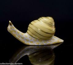 Herend Porcelain Snail, VHJM---15520, Yellow Fishnet - $174.99