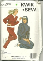Kwik Sew Sewing Pattern 1230 Misses Womens Jogging Suit Top Pants XS S M... - $9.99