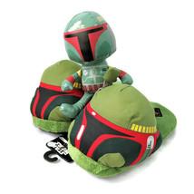Star Wars Boba Fett Helmet Slip-on Slippers Adult Small AND Galerie Plush - $22.88