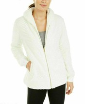 Ideology Quilted Faux Fur Full Zip Jacket, Coconut Milk, M $80 - $28.35