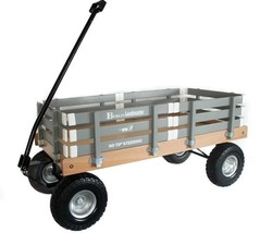 HEAVY DUTY LOADMASTER GRAY WAGON - Beach Garden Utility Cart AMISH MADE ... - $287.07