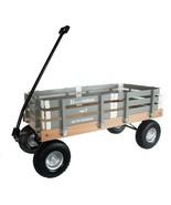 HEAVY DUTY LOADMASTER GRAY WAGON - Beach Garden Utility Cart AMISH MADE ... - $330.18