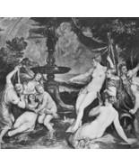 NUDE Goddess Diana & Callisto - Victorian Era Print - $12.15