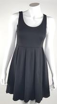 Elle Womens Size 2 Short Empire Waist Pleated Sleeveless Little Black Dr... - $18.69