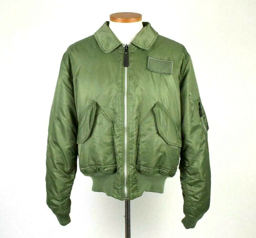 Primary image for Knox Armory Alpha Industries Army Green Bomber Jacket Retro Military Style Men M
