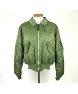 Knox Armory Alpha Industries Army Green Bomber Jacket Retro Military Sty... - $44.54