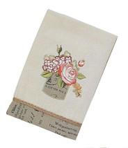 Avanti Antique Bouquet Hand Towels Embroidered Set of 2 Blush Floral Emb... - $38.59