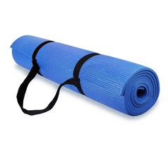 Spoga 1/4-Inch Anti-Slip Exercise Yoga Mat with Carrying Strap Dark Blue - $30.00