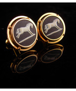 Vintage Wedgwood Cufflinks -gold filled set - gambler gift - horse racin... - $185.00