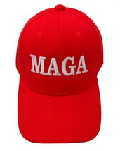 MAGA Embroidered Trump Hat Make America Great Again Ball Cap Red Black New! - €10,27 EUR