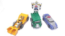 Lot of 3 BanDai Power Rangers Megazord 1997 Green blue and yellow plus more ! - $39.99