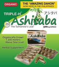 Amazing Triple H Ashitaba Herb From Japan Cholesterol ,Blood Sugar 60 Capsules - $91.31