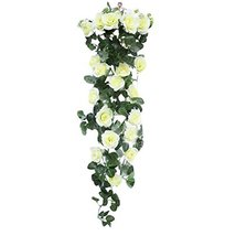 George Jimmy Rose Artificial Flowers Romantic Hanging Flower Vine Valentine Wedd - $16.52