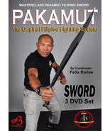 3 DVD Set Pakamut Filipino Martial Arts Sword Fighting System Felix Roil... - $49.95