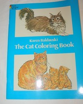 The Cat Coloring Colouring Book 1980 Adult Persian Calico Korat - $9.79