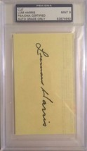 Lum Harris Autographed 3X5 Cut PSA/DNA MINT 9 Certified - $19.34
