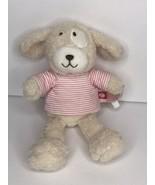 Nat & Jules Zutano Puppy Dog Plush Stuffed Animal Tan Brown Pink Striped... - $24.61