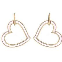 Gorgeous Cristina Sabatini Amoroso Pink Heart Hoop Earring - $206.91