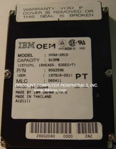IBM DVAA-2810 810MB 2.5IN 17MM IDE Drive Free USA Shipping Our Drives Work - $24.45