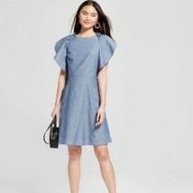 A New Day For Target Chambray Ruffle Sleeve Swing Dress Size XS - Cotton - $61.48