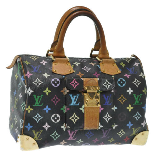 Primary image for LOUIS VUITTON Monogram Multicolor Speedy 30 Hand Bag M92643 LV Auth 12636