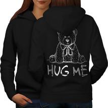 Hug Me Teddy Bear Sweatshirt Hoody Nice & Cute Women Hoodie Back - $21.99+