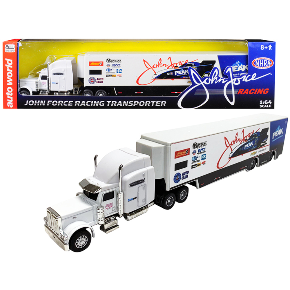 2019 Freightliner John Force Racing Transporter 1/64 Diecast Model by Autoworld