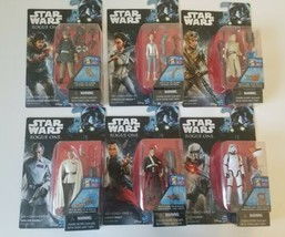 "Star Wars Rogue One lot of 6 New 3.75"" Action Figures 2016 Hasbro 3 1/4""... - $29.99"