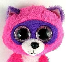 "Ty Beanie Roxie Raccoon Pink 6"" Plush Doll - $5.56"
