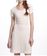 Anthropologie Sparrow Gilt Grid Sweater Dress M Medium Ivory Gold A Line - $30.59