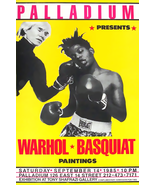 Andy Warhol Jean-Michel Basquiat 1985 Boxing Gallery Show Poster - $19.99