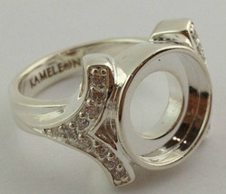 Authentic Kameleon Silver Cz Shank Ring Kr-4 Kr004  Size 7, New - $66.49